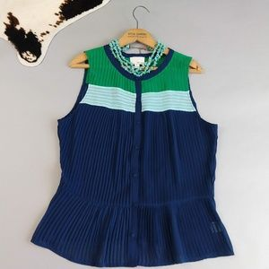 Greylin for Anthropologie L colorblock pleated top